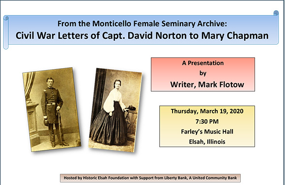 From the Monticello Female Seminary Archives: The Civil War Letters of Captain David W. Norton to Mary (Mollie) Chapman